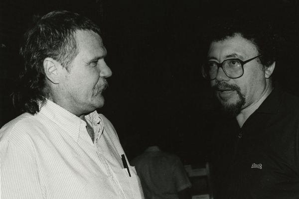 Harry Crews and Raymond Andrews, 1985. Photo by Ashton Graham.