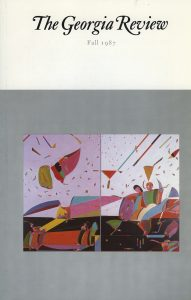 Cover of Fall 1987