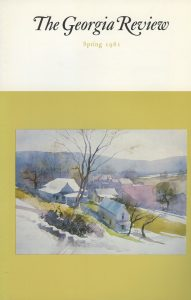 Cover of Spring 1981