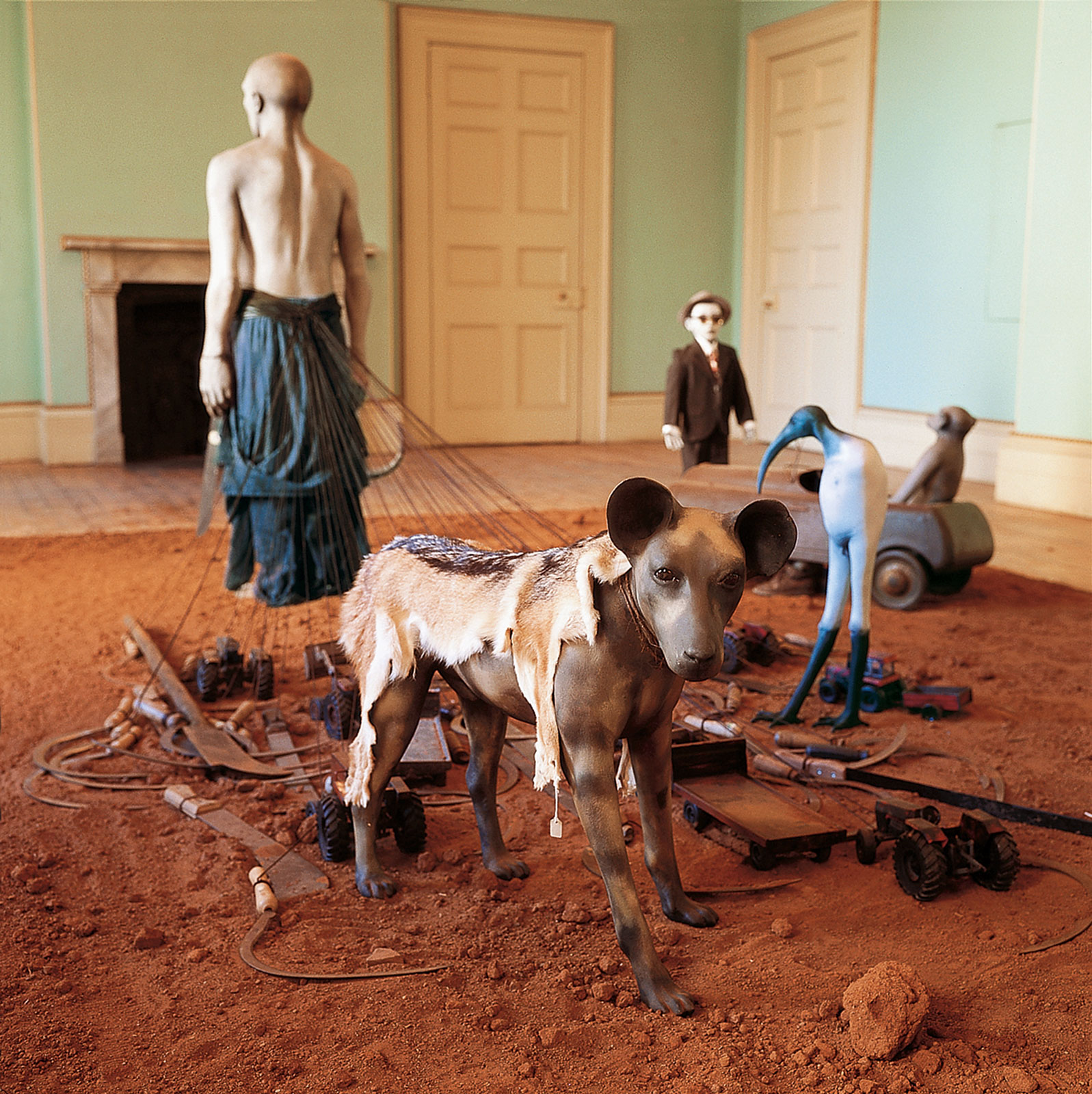 <i>African Adventure</i> detail (1999–2002). Installation: British Officers' Mess, Castle of Good Hope, Cape Town. Photograph by Mark Lewis. (See preceding caption for further information)