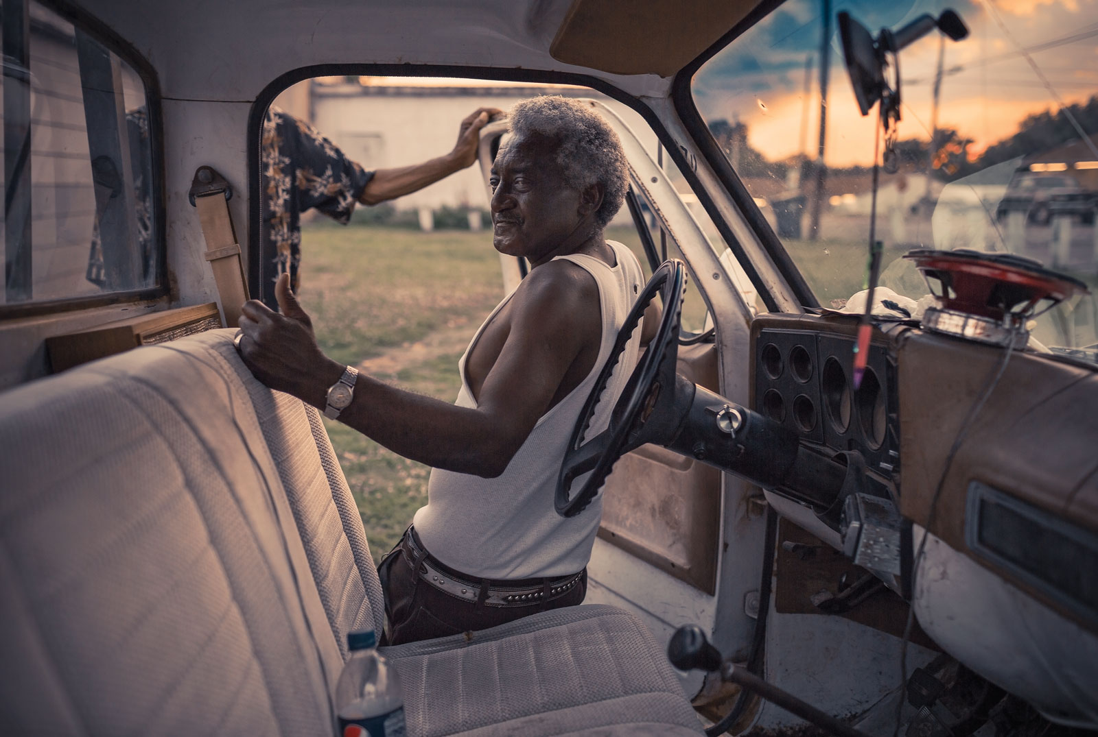 <i>Man in Truck, Hollysprings, MS</i> (2012) by Tamara Reynolds