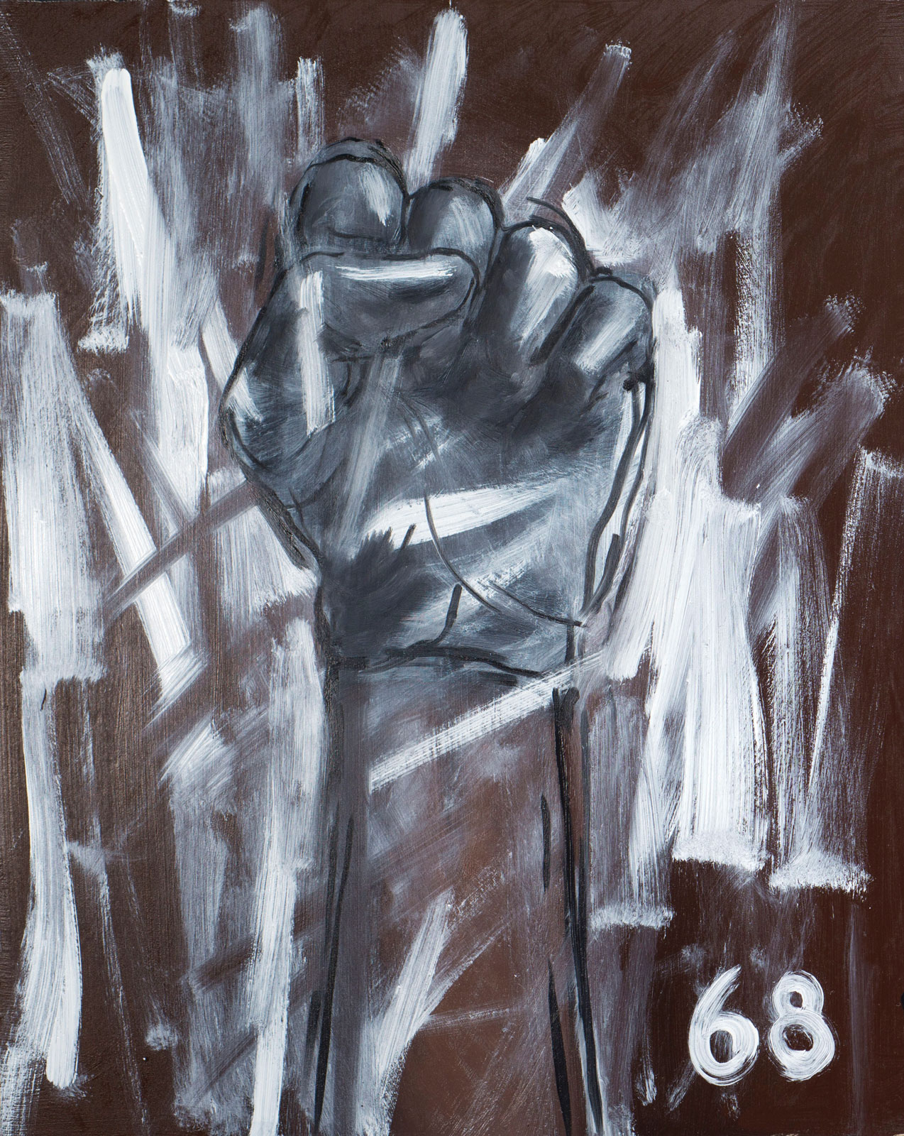 <i>1968/2014</i> (2014), Diptych (1): 20˝ × 16˝, oil on panel