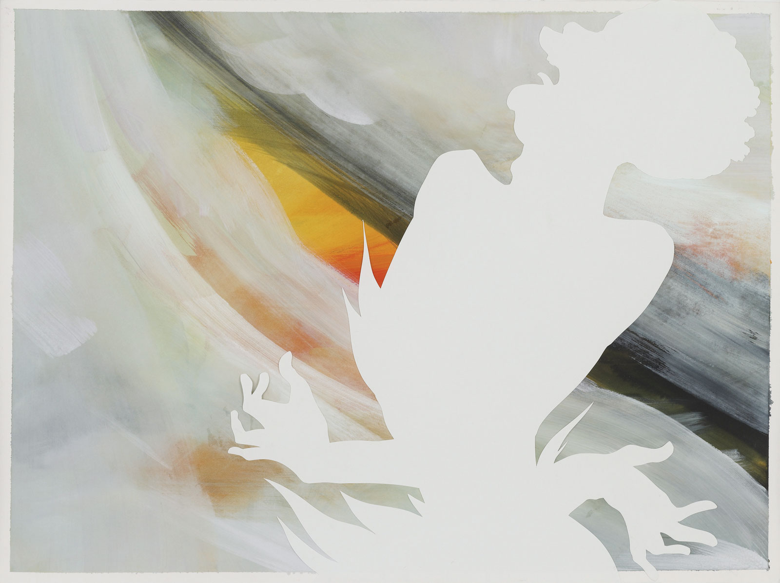 from <i>30 Strokes</i> (2009), 22.125˝ × 29.875˝, gouache on paper