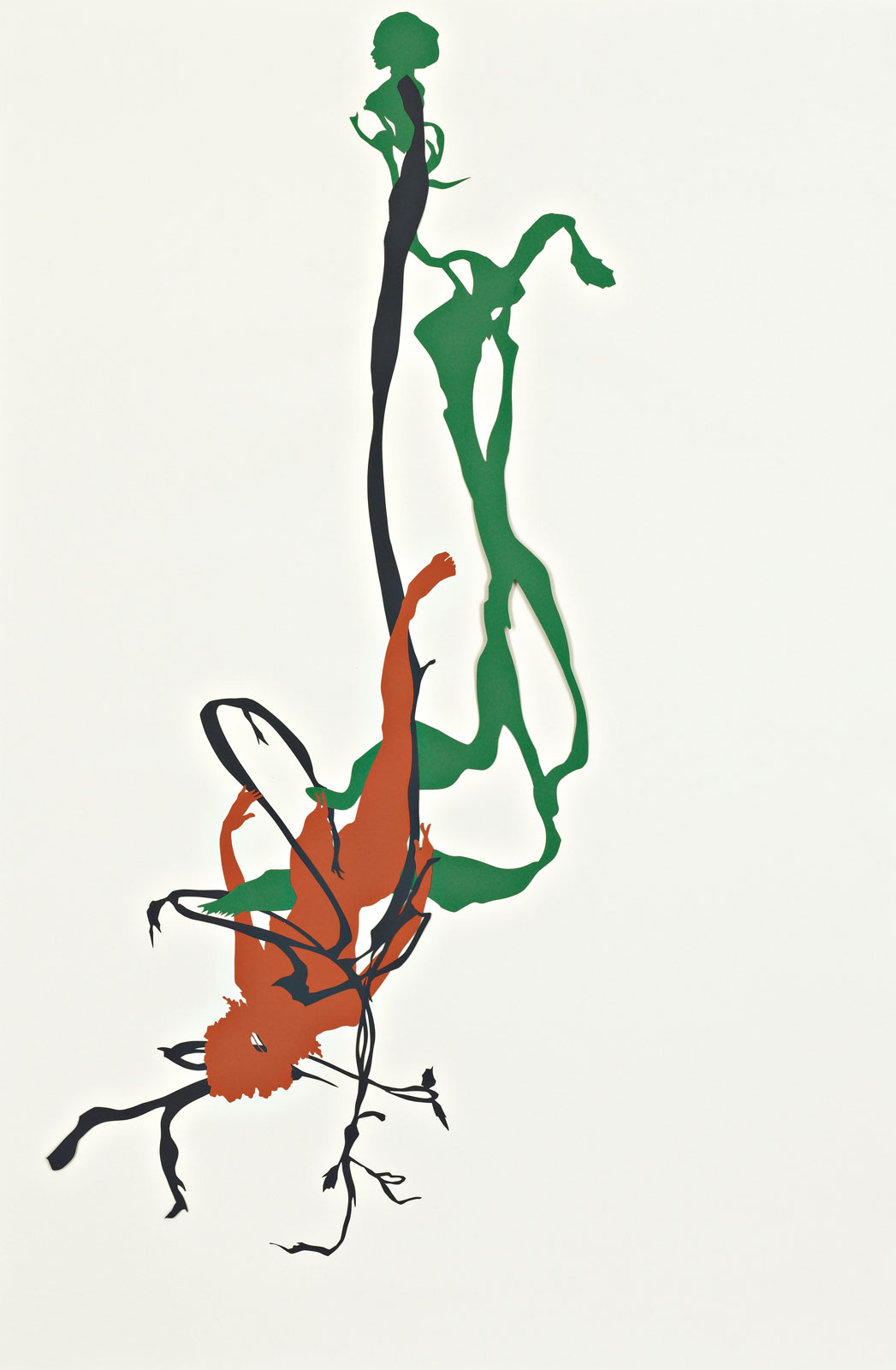 <i>Bureau of Refugees: Mulatto hung by a grapevine near roadside between  Tuscaloosa & Greensboro</i> (2007), 30.75˝ × 20.5˝, cut paper on paper
