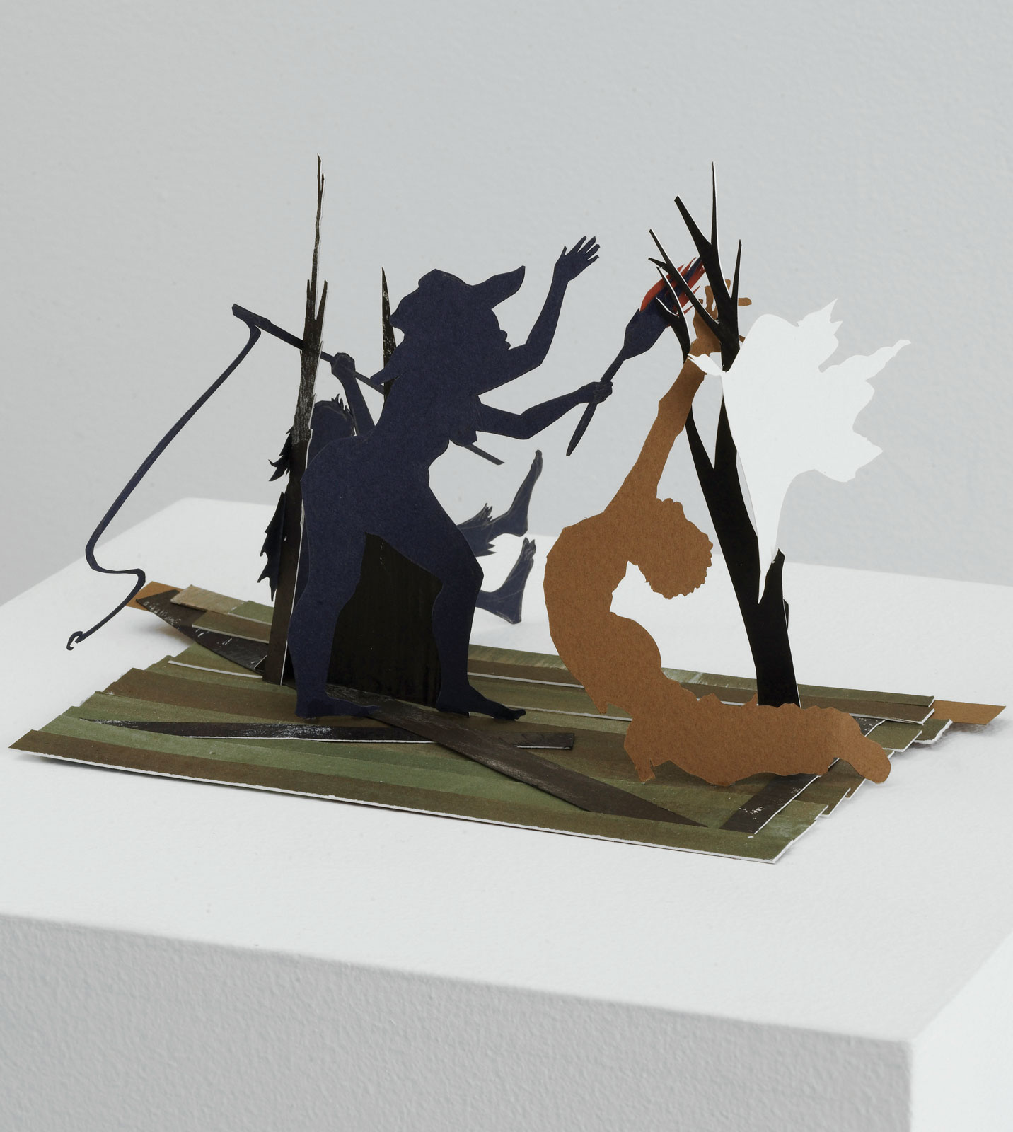 <i>Craft</i> (2009), 4.75˝ × 7.75˝ × 5.125˝, cut paper and paint