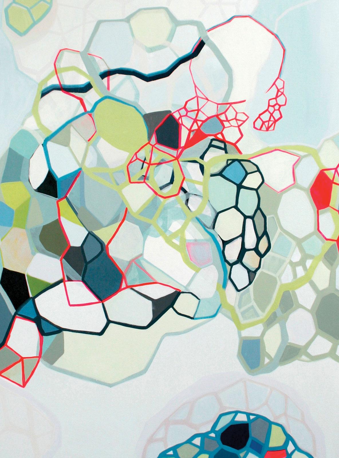 <i>Snow Fury</i> (2014), 36˝ × 48˝, acrylic on canvas