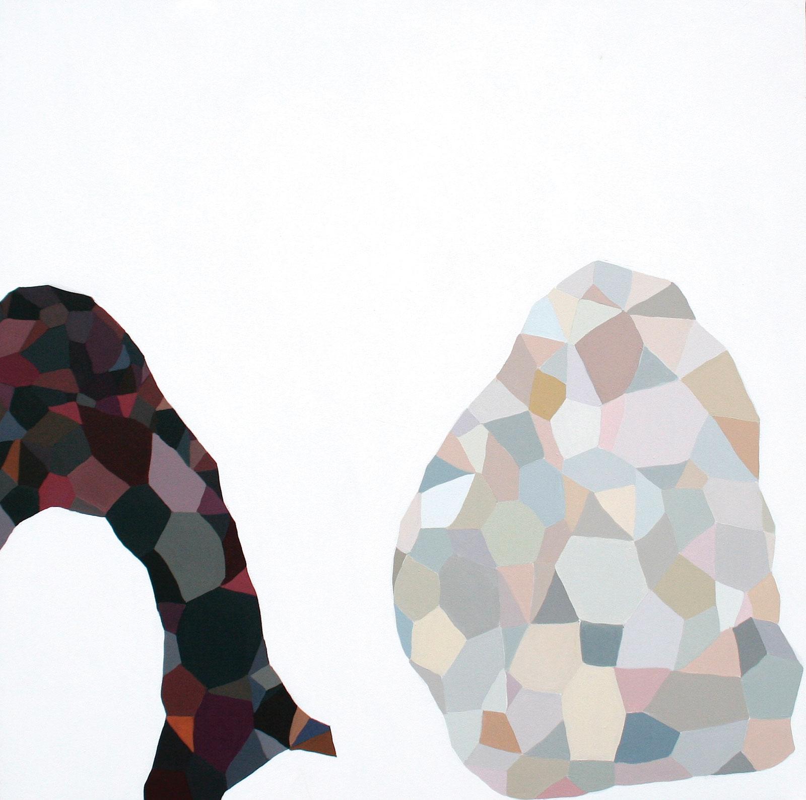 <i>Polar</i> (2011), acrylic on canvas, 48˝ × 48˝