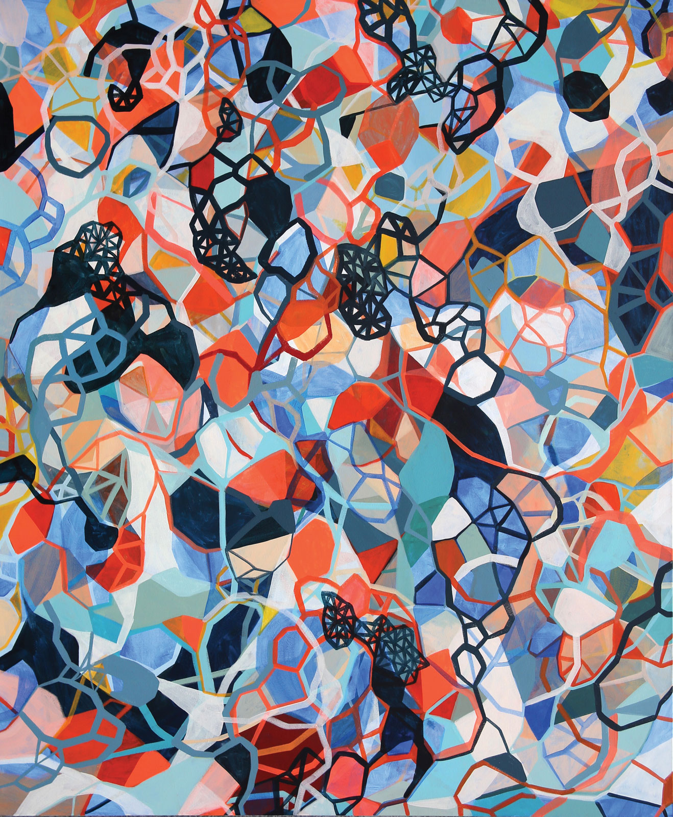 <i>Isotropic Blue</i> (2014), acrylic on canvas, 60˝ × 72˝