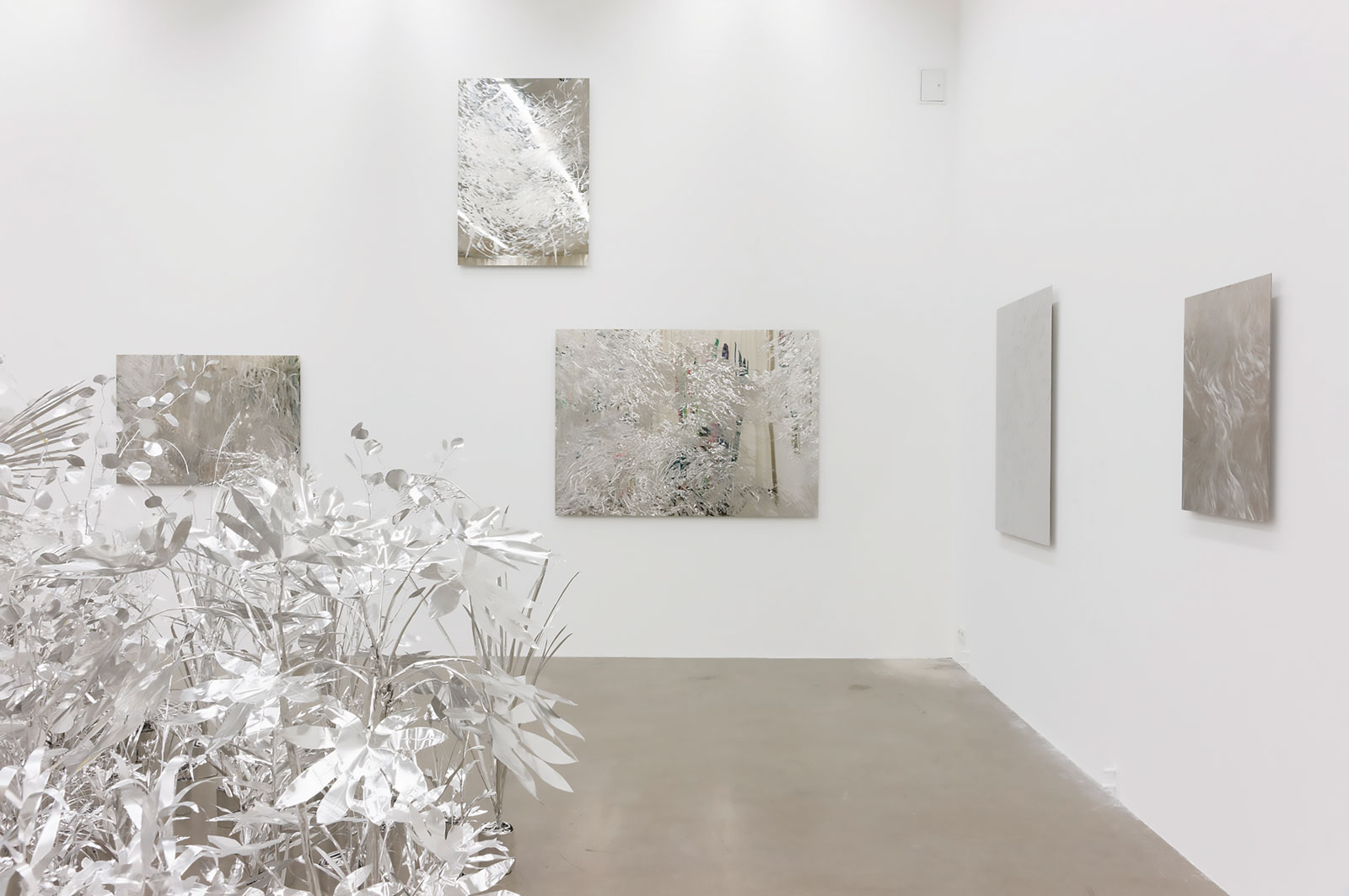 <i>Aluminum Garden </i>(2015–16). Image dimensions variable.  Courtesy of the Japanisches Kulturinstitut, Köln, Germany, and Sexauer Gallery, Berlin, Germany.